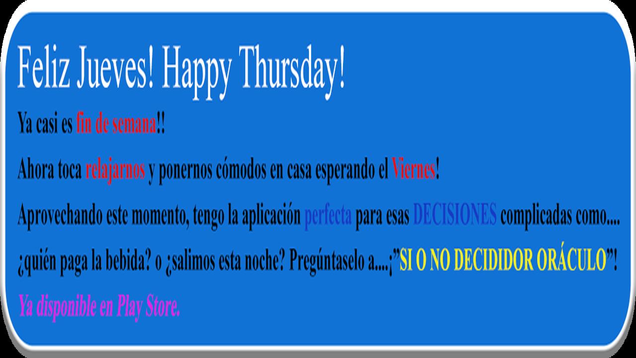Feliz Jueves Happy Thursday Recorp Games